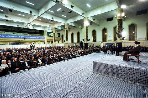 دیدار رؤسای دانشگاهها و مراکز آموزش عالی با رهبر معظم انقلاب