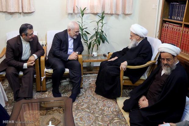 دیدار وزیر خارجه با مراجع عظام تقلید قم