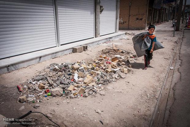 کودکان کار در شهرستان لامرد استان فارس