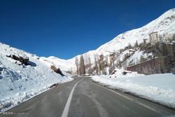 Mountains of Tehran under snow