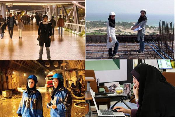 عمل المرأة في ايران إبداع تحت سقف القانون