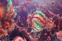 Anti-HIV drug-HIV virus interaction illustrated