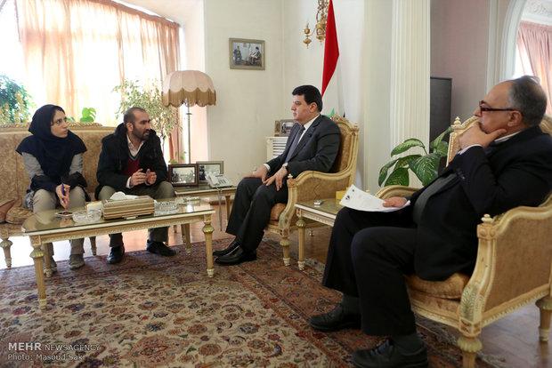 السفير السوري في مقابلة خاصة مع وكالة مهر للأنباء