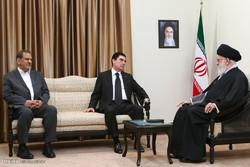 قائد الثورة الاسلامية يستقبل رئيس جمهورية تركمانستان