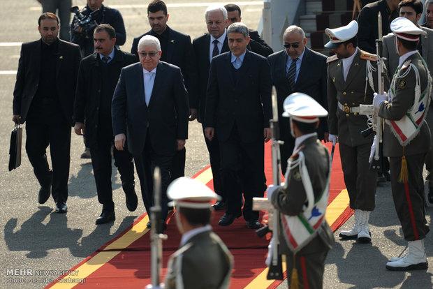 الرئيس العراقي يصل طهران للمشاركة في قمة الدول المصدرة للغاز