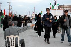 زائران اربعين حسینی در مرز شلمچه