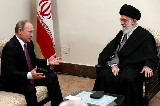 روس کے صدرپوتین  کی رہبر معظم امام خامنہ ای سے ملاقات