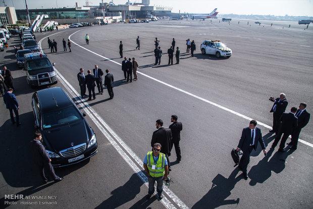 ورود رئیس جمهور روسیه به تهران
