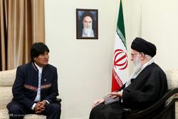 Leader Ayat. Khamenei receives Bolivia's Morales