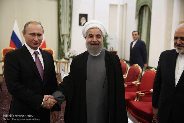 دیدار روسای جمهورایران و روسیه