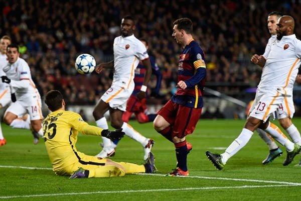 1916337 بارسلونا با ۶ گل رم را در هم کوبید