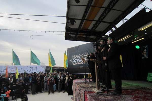 صوت/ همراهی گروه لیلهالقدر با عزاداران حسینی در اربعین