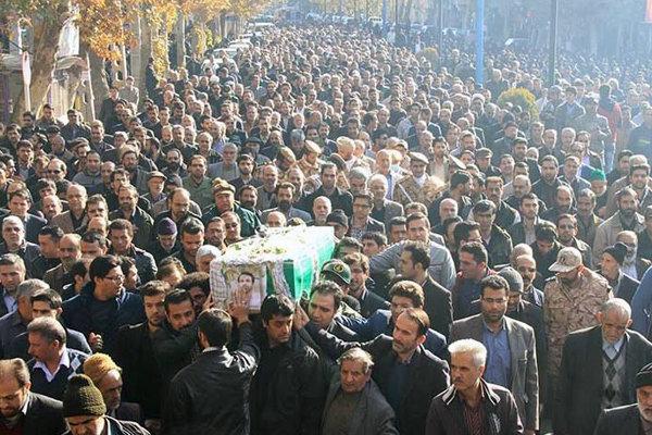 تشییع شهید منا در شاهرود