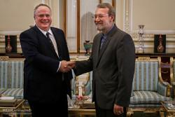 دیدار وزیر امور خارجه یونان با رئیس مجلس شورای اسلامی