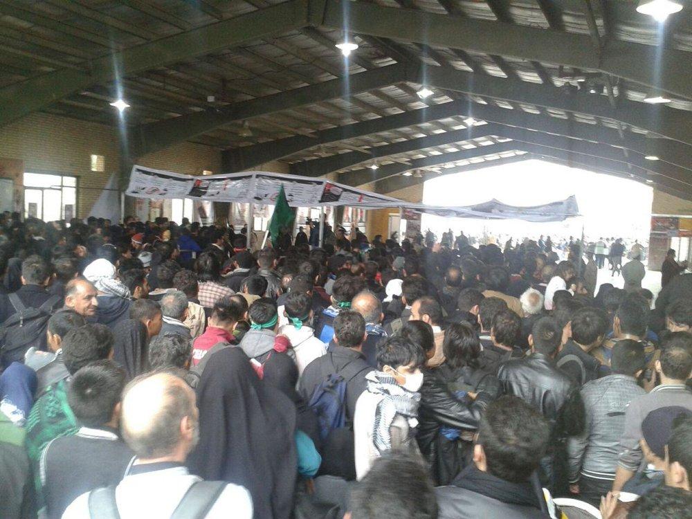 20هزار زائر بدلیل بارندگی شدید در مرز اسکان داده شدند
