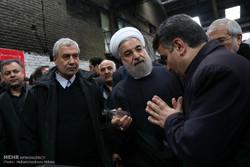 """روحاني يتفقد مصنع """"مينا """"لانتاج القناني الزجاجية"""