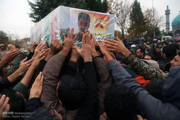 مراسم تشییع پیکر شهید مدافع حرم  عبدالرشید رشوند