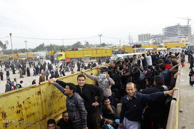 عودة زوار الاربعين الحسيني من كربلاء