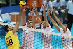 والیبال ایران - برزیل
