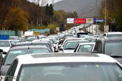 ترافیک سنگین در هر دو لاین جاده چالوس و هراز