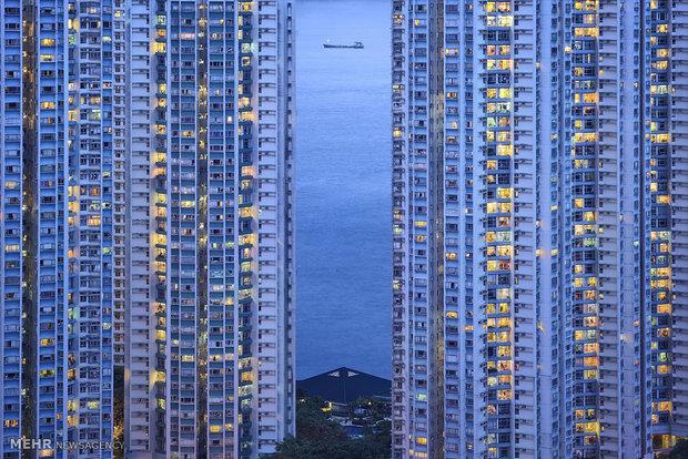 تصاویر دیدنی از آسمان خراش های پایتخت هنگ کنگ