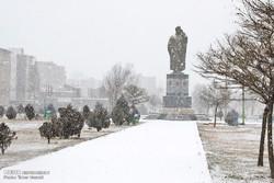 الثلوج تغطي محافظة اردبيل شمال غرب ايران