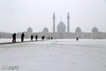 بارش برف سنگین در قم