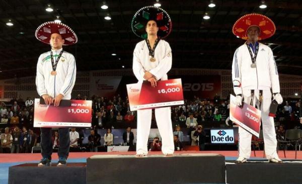 سجاد قهرماني يحصد ذهبية التايكواندو في المكسيك