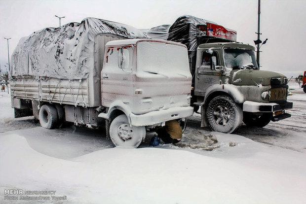 Snow whitens Takistan