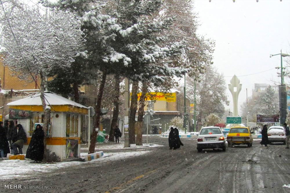 بارش برف در شاهرود