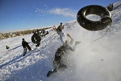 تفریحات زمستانی درارتفاعات همدان