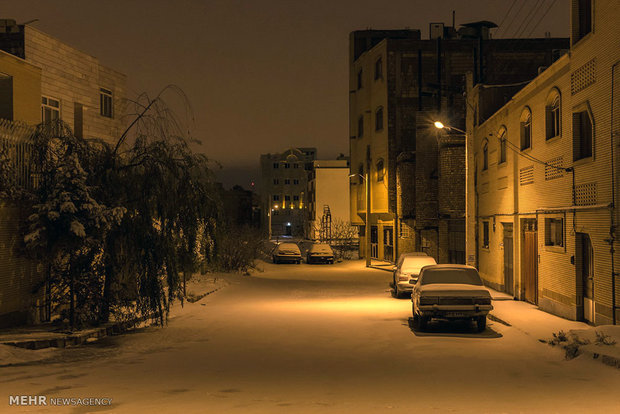 Shahroud under snow