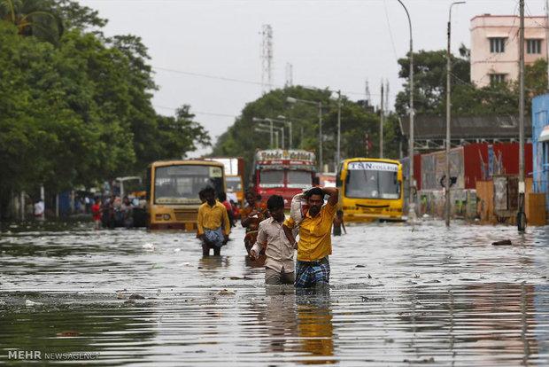 خسارات سیل در هند