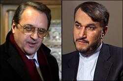 مشاورات دبلوماسية بين ايران وروسيا حول اوضاع المنطقة