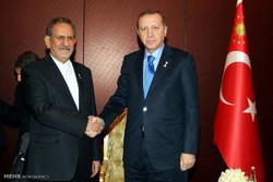 دیدار رئیس جمهور ترکیه با معاون اول رئیس جمهور