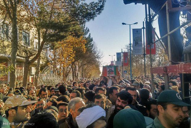 آئین تشییع شهید مدافع حرم علی اصحابی