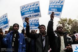 راهپیمایی اعتراض آمیز نمازگزاران مردم تهران در حمایت از شیعیان نیجریه