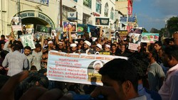 Protest against Nigeria massacre of Muslims in India