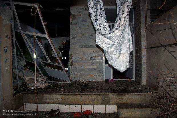 انفجار گاز در منزل مسکونی