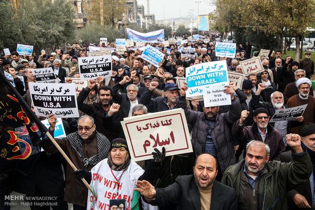 تبریزیها در محکومیت کشتار شیعیان نیجریه راهپیمایی کردند