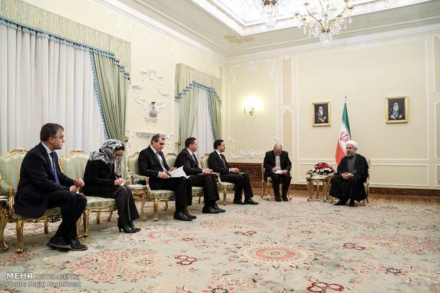 لقاء وزير خارجية بلغاريا مع رئيس الجمهورية