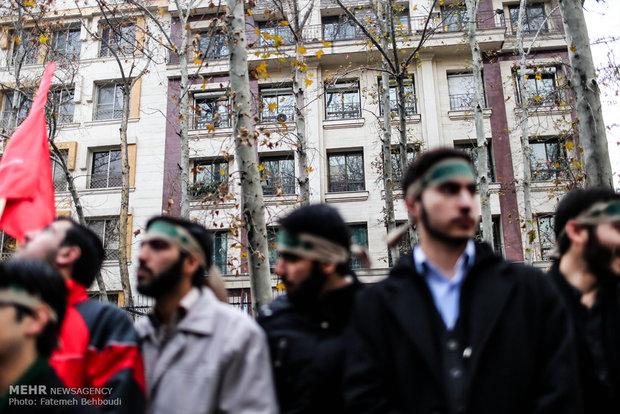 تجمع احتجاجي للتعبئة الطلابية امام مكتب الامم المتحدة