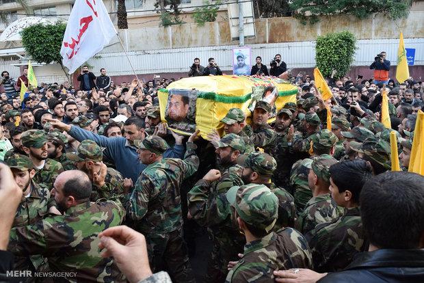 تشییع جنازه شهید سمیر قنطار