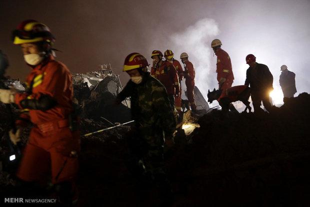 چين میں لینڈ سلائيڈنگ سے لوگوں میں خوف و ہراس پیدا ہوگیا