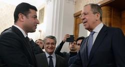 Demirtaş, Moskova'da Lavrov ile bir araya geldi