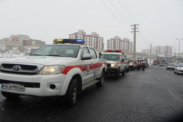 رزمایش امدادی جمعیت هلال احمر در شهرستان اسکو