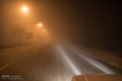 ترافیک پرحجم در هراز/مه سنگین و بارش باران