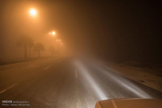 فیلمی از مه گرفتگی در محور قادرآباد فارس