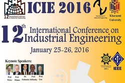 Tehran to hold 12th Intl. Conf. on Industrial Engineering