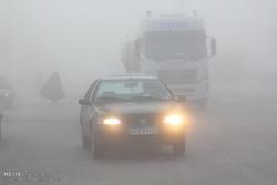 کاهش دید افقی در جاده ایلام-مهران به دلیل مه گرفتگی
